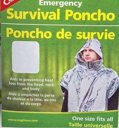 Poncho Aluminizado de Emergência Coghlan's